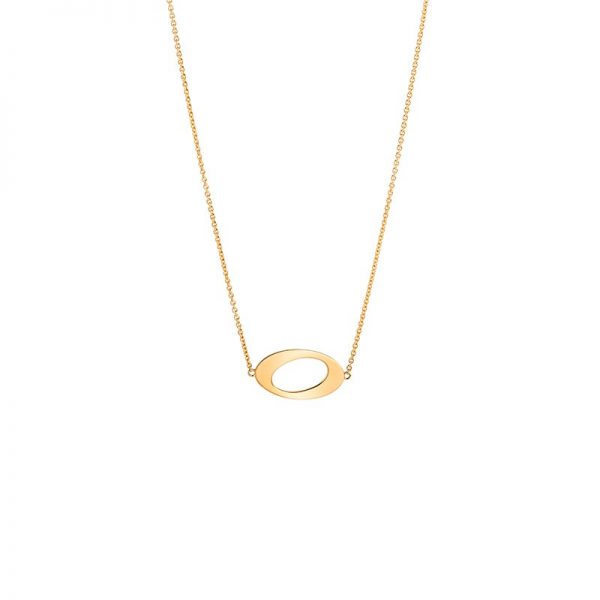 Ateljé TeBoon Oval & Out Collier 18 K Guld