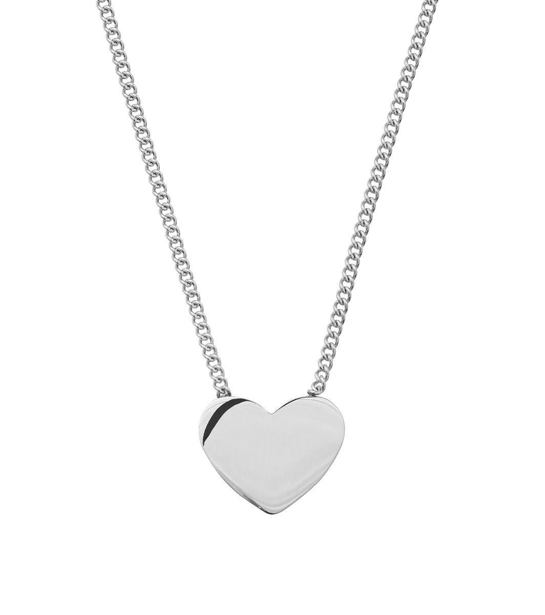 edblad halsband hjärta