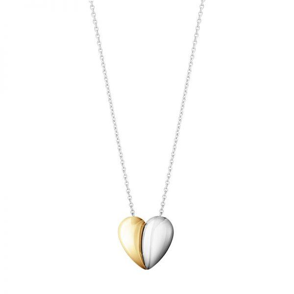 Georg Jensen  Curve Heart Pendant Silver/Gold