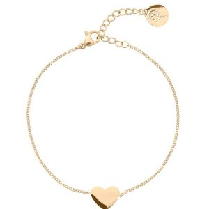 Edblad Pure Heart Bracelet Gold  - Jewelrybox.se
