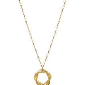 Edblad Swirl Necklace Small Gold  - Jewelrybox.se