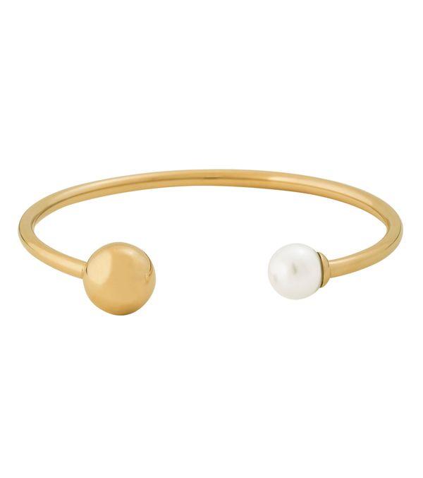 Edblad Atom Bracelet Pearl White Gold