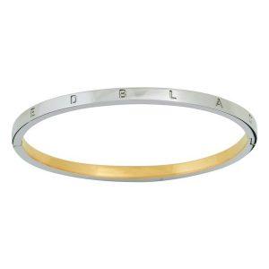 Edblad Signature Bangle Thin Steel/Gold  - Jewelrybox.se