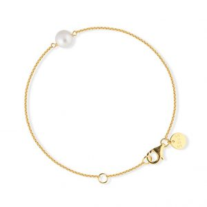 Sophie By Sophie  Pearl bracelet - Gold with white pearl
