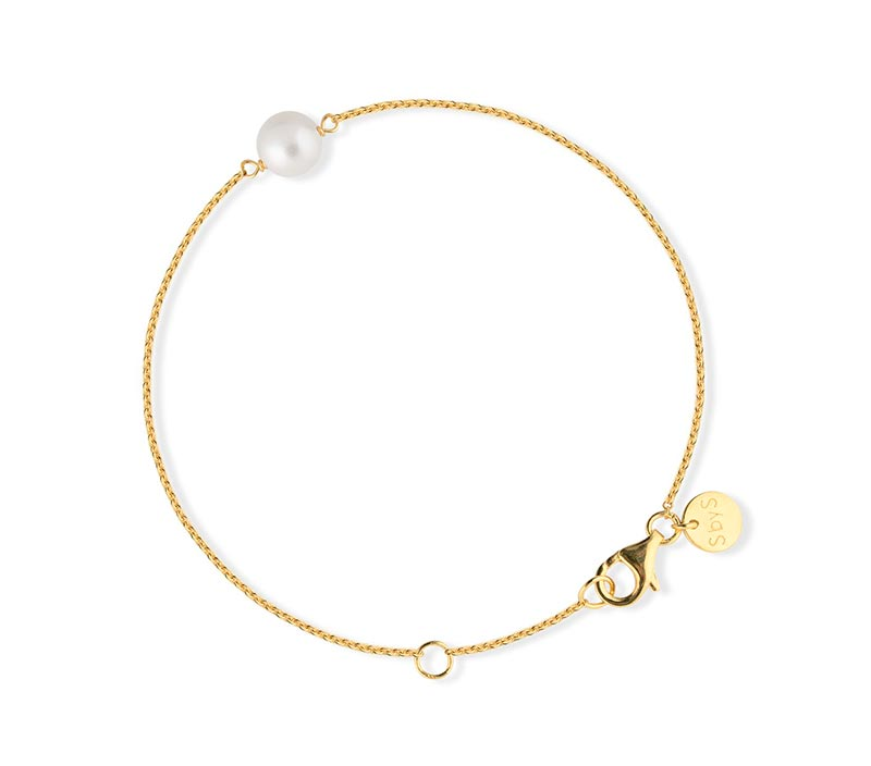 SOPHIE by SOPHIE Pearl bracelet – Gold with white pearl
