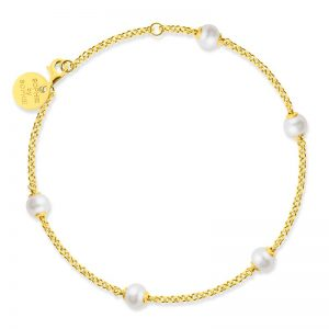 Sophie By Sophie  Funky pearl bracelet - Gold with white pearl