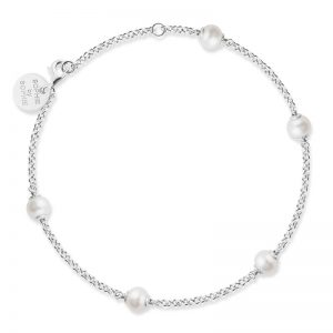 Sophie By Sophie  Funky pearl bracelet - Silver with white pearl