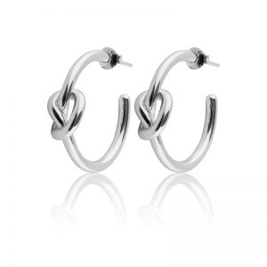 Sophie By Sophie  Knot hoops - Silver