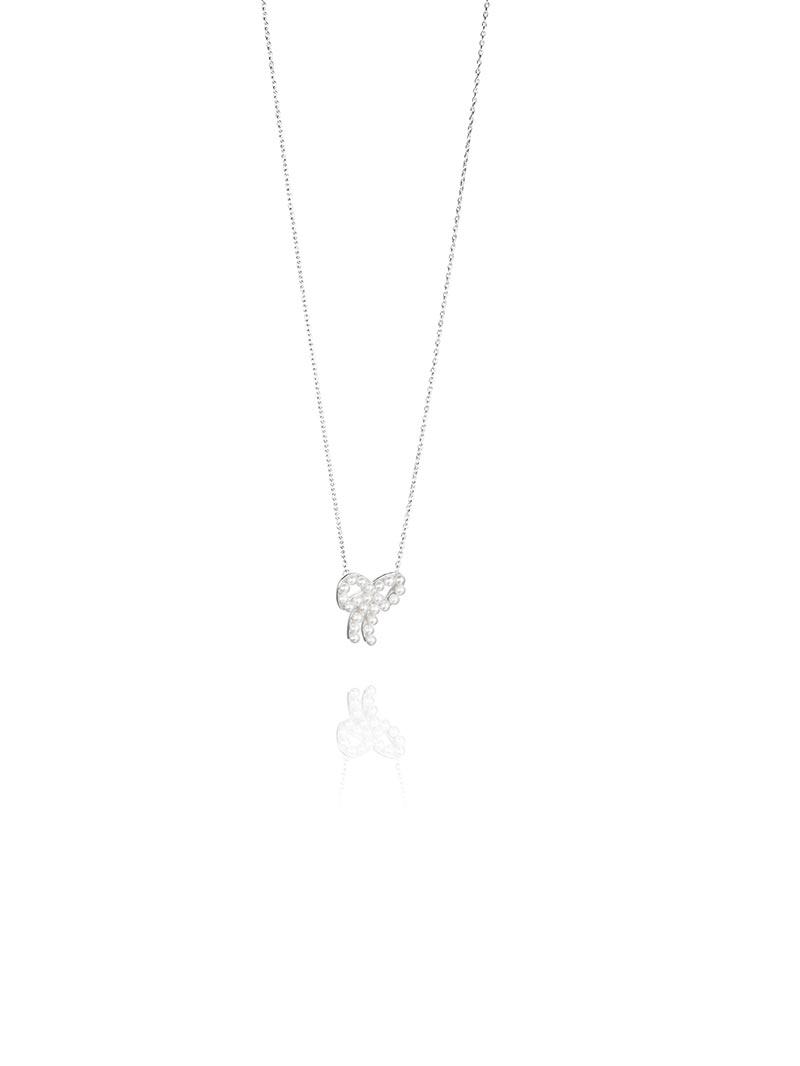 Efva Attling Mini Pearls Bow Necklace