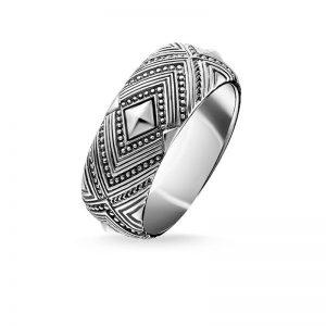 Afrika Ornament Ring Silver från Thomas Sabo