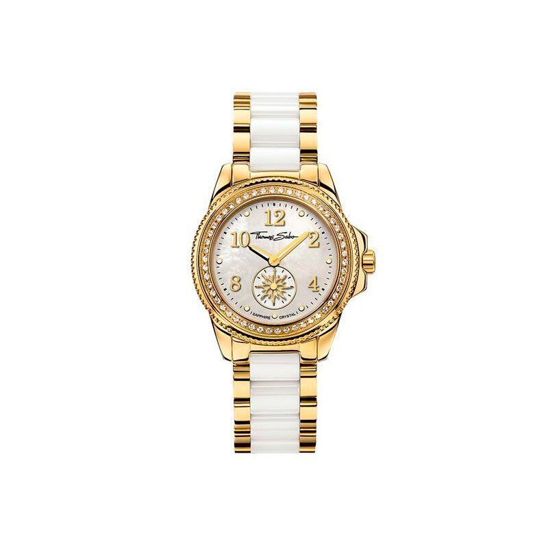 Thomas Sabo Glam Chic Watch Gold And White 33mm