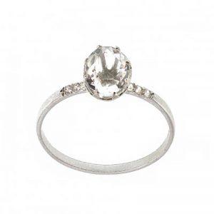 Liora Ring Silver Klar LAB från Edblad