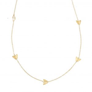 Butterfly chain neck 90-95 gold från CU Jewellery