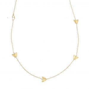 Butterfly chain neck 90-95 gold från CU Jewellery