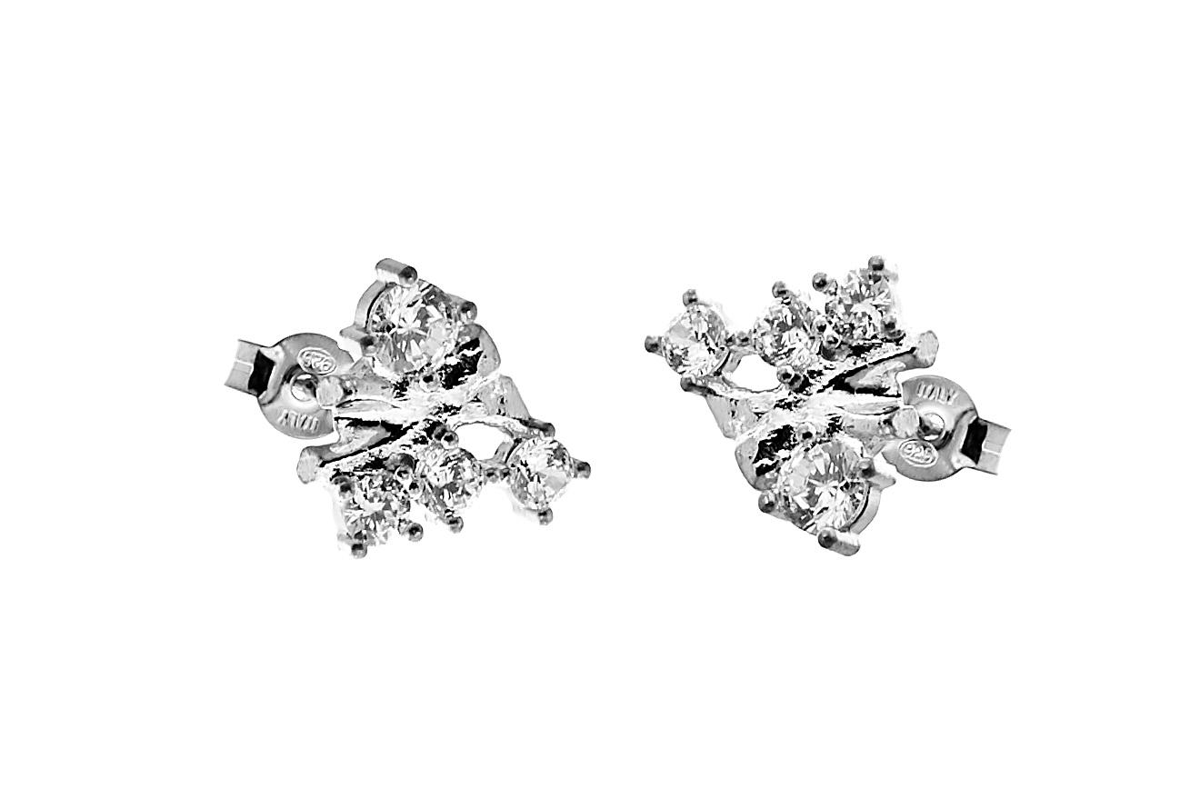 CU Jewellery Two kluster ear – Silver