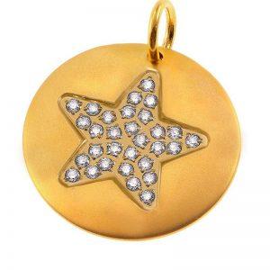 Charmentity Star Large Matt Gold från Edblad