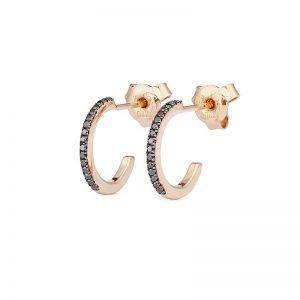Creol Shapes 0.12 ct Rose Gold Black Diamonds från Engelbert