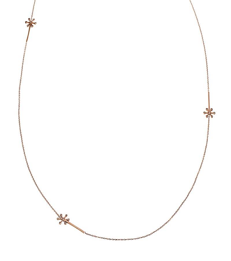 Edblad Dandelion Necklace Multi Rose Gold