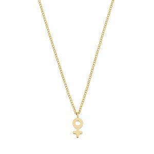 Edblad Me Mini Necklace Gold  - Jewelrybox.se