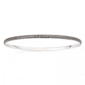 Petit Pavé Armring 18 K Vitguld 2.90 ct Svarta Diamanter från Engelbert