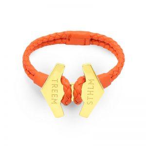 Stark Orange Läder och Guld från Treem