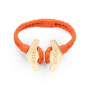 Stark Orange Läder och Roseguld från Treem