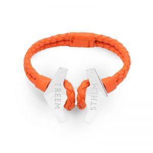 Stark Orange Läder och Sterling Silver från Treem