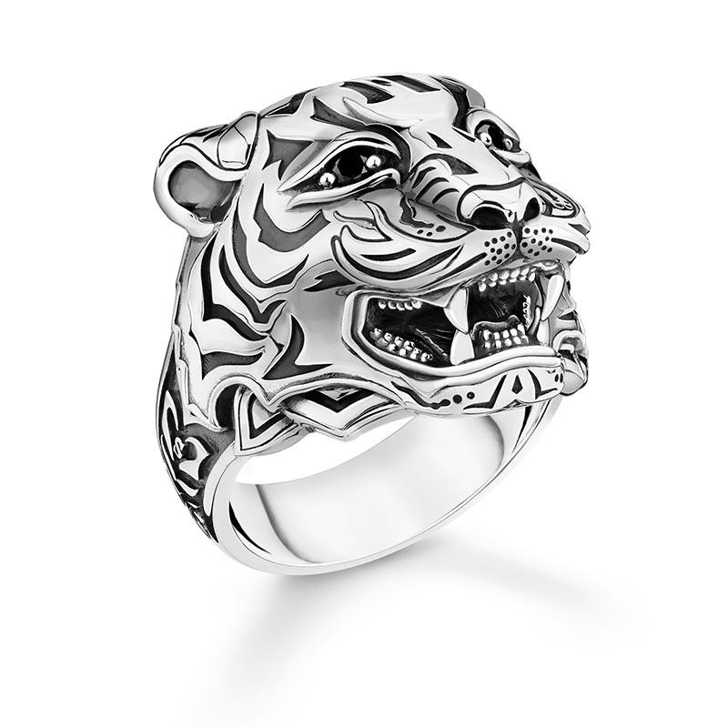 Thomas Sabo Ring Tiger Silver
