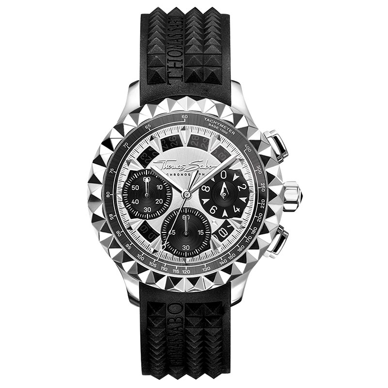 Thomas Sabo Rebel At Heart Chronograph Svart Silver