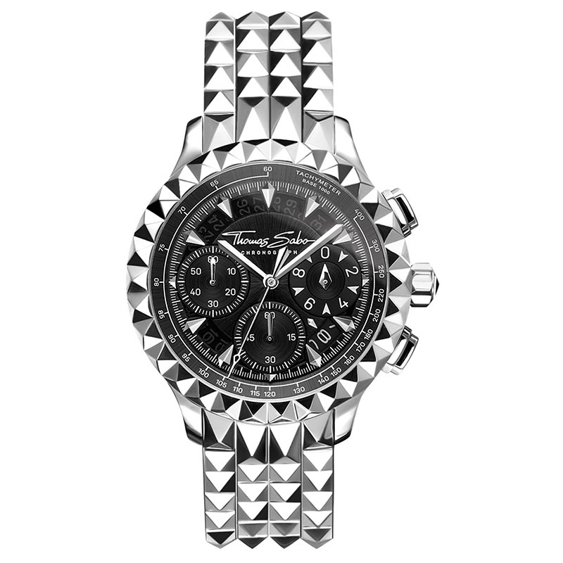 Thomas Sabo Rebel At Heart Chronograph Silver Svart