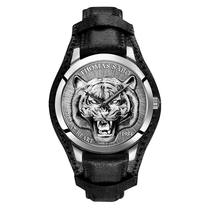 Thomas Sabo Rebel Tiger 3D Svart-Silver