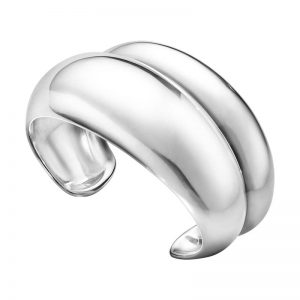 Curve Armband Silver Medium från Georg Jensen
