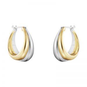 Curve Örhängen Silver/Guld från Georg Jensen
