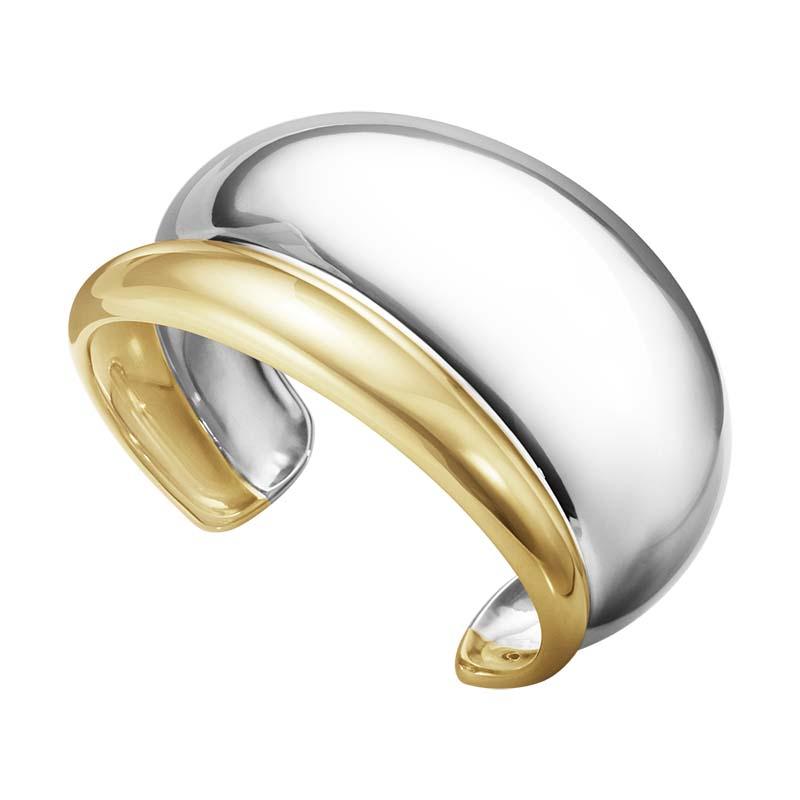 Georg Jensen Curve Armband Silver/Guld Medium