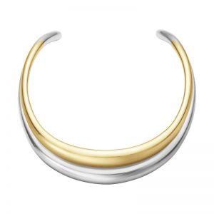 Curve Halsring Silver/Guld från Georg Jensen