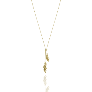 Feather/Leaf double neck gold från CU Jewellery