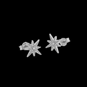 One star ear silver från CU Jewellery