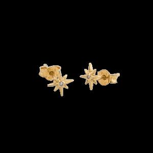 One star small ear gold från CU Jewellery
