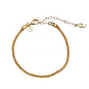 Roof big plain braclet Gold från CU Jewellery