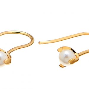 Pearl short ear gold från CU Jewellery