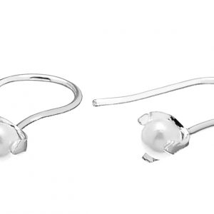 Pearl short ear Silver från CU Jewellery