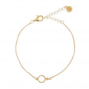 Letters Venus chain brace gold från CU Jewellery