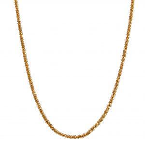 Roof big plain neck 40-45 gold från CU Jewellery