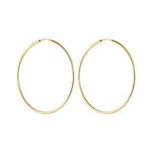 Letters big hoop ear gold från CU Jewellery