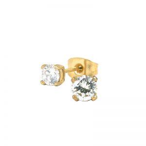 IDA Örhänge Guld/kristall 4 mm  från Astrid & Agnes
