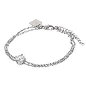 IDA Armband Stål/Kristall från Astrid & Agnes