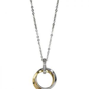 CAROLIN Långt Halsband Guld/stål från Astrid & Agnes