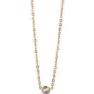 LILLY Kort Halsband Guld/kristall 4 mm från Astrid & Agnes