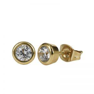 LILLY Örhänge Guld/kristall 7 mm från Astrid & Agnes