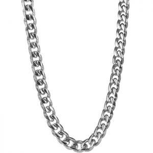 HAILEY Kort halsband Stål från Astrid & Agnes
